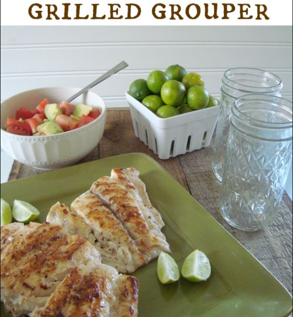 LIME BUTTER GRILLED GROUPER