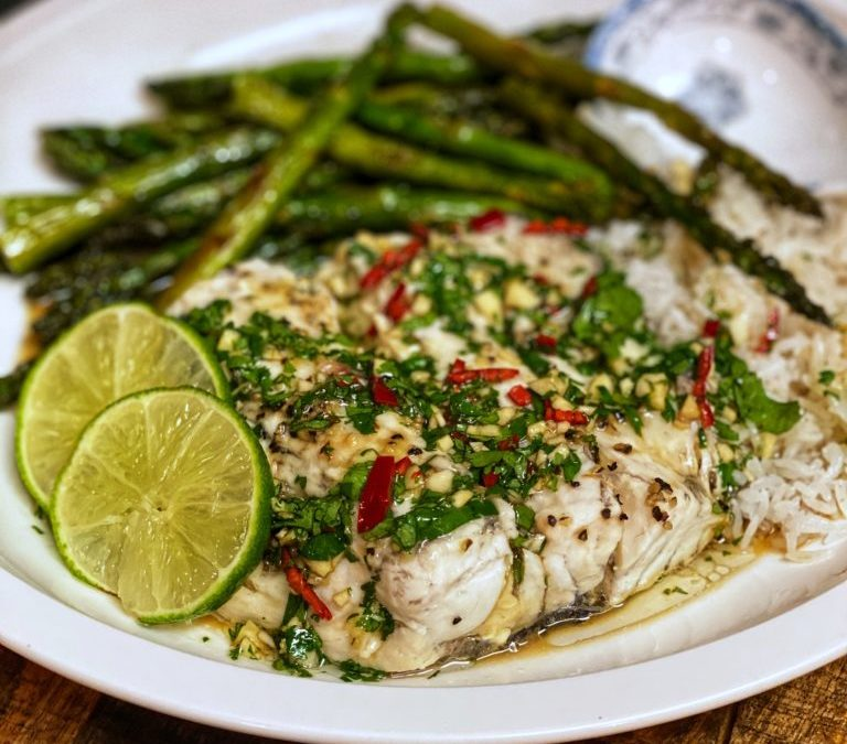 THAI-STYLE STEAMED BARRAMUNDI