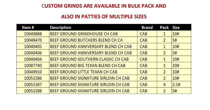 Custom Ground Hamburger
