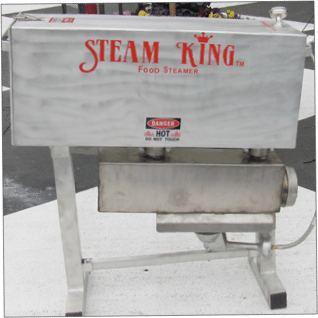 Steam King Food Steamer Charlotte NC available at the Carolina Fish Market