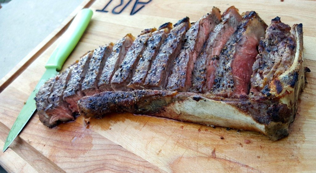 New York Strip Steak at the Chop Shop Meat Market in Ballantyne