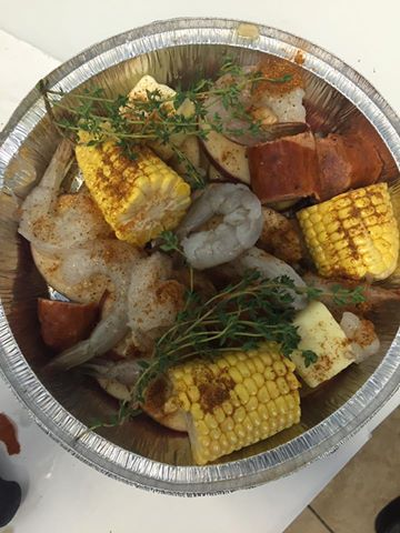 low country boil by the Carolina Meat & Fish Co in Ballantyne