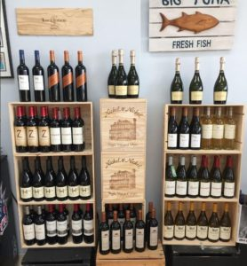 Wine at the Carolina Fish Market