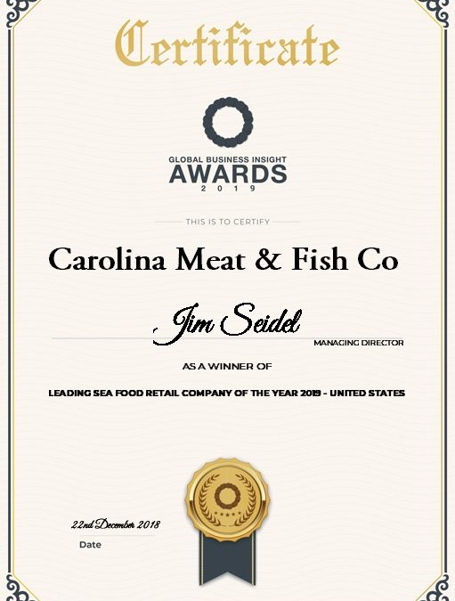 Leading Seafood Retail Company of the Year, Global Business Insight Awards